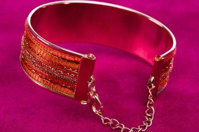 """Inia"" Bracelet, Flame"