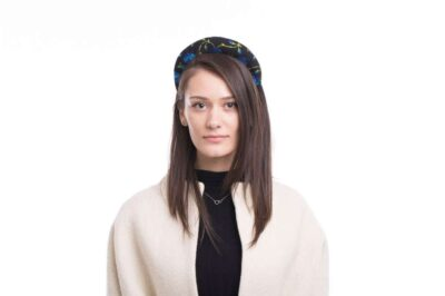 Headband, black and blue