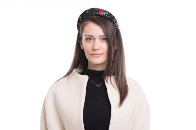 Headband, black and pink