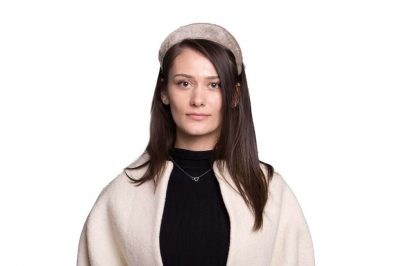 Abaca Headband, Silver